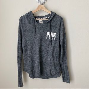 PINK Victoria's Secret gray hooded pullover